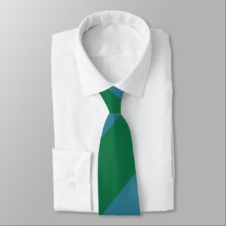 Green and Turquoise Broad Regimental Stripe Tie
