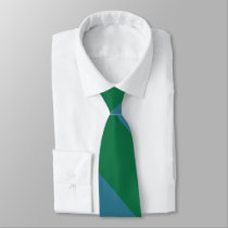 Green and Turquoise Broad University Stripe Tie