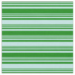 [ Thumbnail: Green and Turquoise Colored Pattern Fabric ]