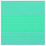 [ Thumbnail: Green and Turquoise Colored Striped/Lined Pattern Fabric ]