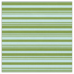 [ Thumbnail: Green and Turquoise Lines Fabric ]