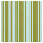 [ Thumbnail: Green and Turquoise Pattern of Stripes Fabric ]