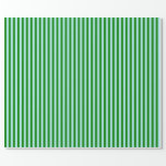 [ Thumbnail: Green and Turquoise Striped/Lined Pattern Wrapping Paper ]