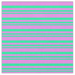 [ Thumbnail: Green and Violet Colored Lines Pattern Fabric ]