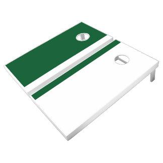Green and White Add Your Logo Cornhole Set