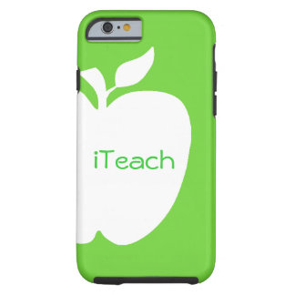 Green and White Apple Teacher's iPhone 6 case