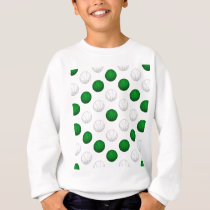 Green and White Basketball Pattern Sweatshirt