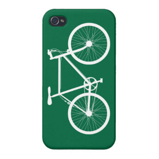 Green and White Bicycle Case For iPhone 4
