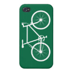 Green and White Bicycle iPhone 4 Cases