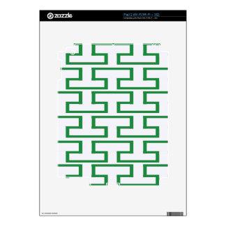 Green and White Bricks iPad 2 Skin