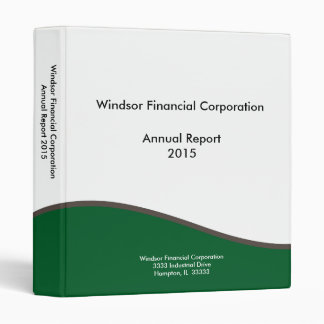 Green and White Business Binder | Add Your Logo