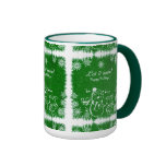 Green And White Chalk Snowman-Let It Snow Mugs