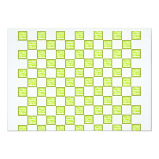 Green and White Checked Card