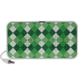 Green and White Checks Mp3 Speaker
