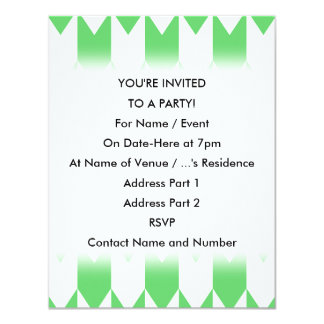 Green and White Chevron Pattern. Card