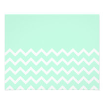 Green and White Chevron Pattern with Plain Green. Flyer