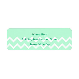 Green and White Chevron Pattern with Plain Green. Label