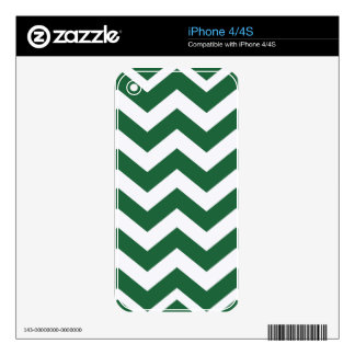 Green And White Chevron Stripes iPhone 4S Decals