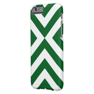Green and White Chevrons Barely There iPhone 6 Case