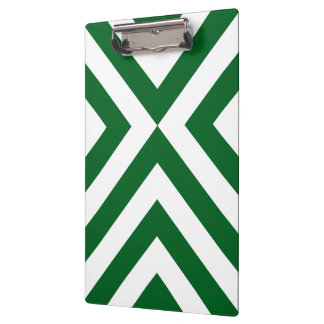 Green and White Chevrons Clipboard