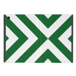 Green and White Chevrons