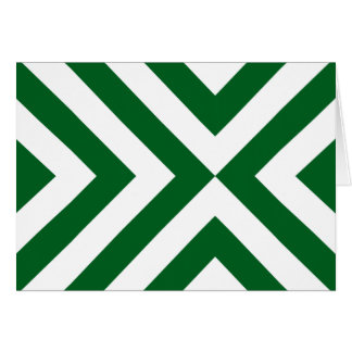 Green and White Chevrons Greeting Card