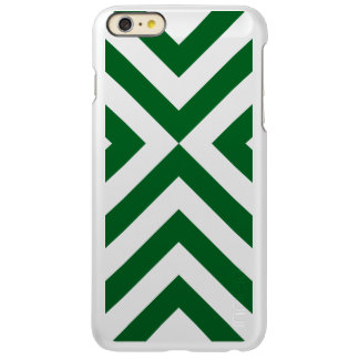 Green and White Chevrons Incipio Feather® Shine iPhone 6 Plus Case