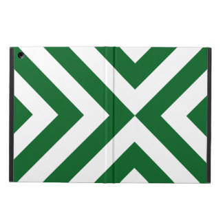 Green and White Chevrons iPad Air Cover