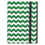 Green and white chevrons iPad folio cases