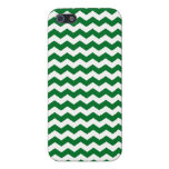 Green and white chevrons iPhone 5 cases