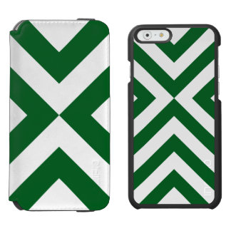 Green and White Chevrons iPhone 6/6s Wallet Case
