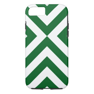 Green and White Chevrons iPhone 7 Case