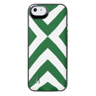Green and White Chevrons iPhone SE/5/5s Battery Case