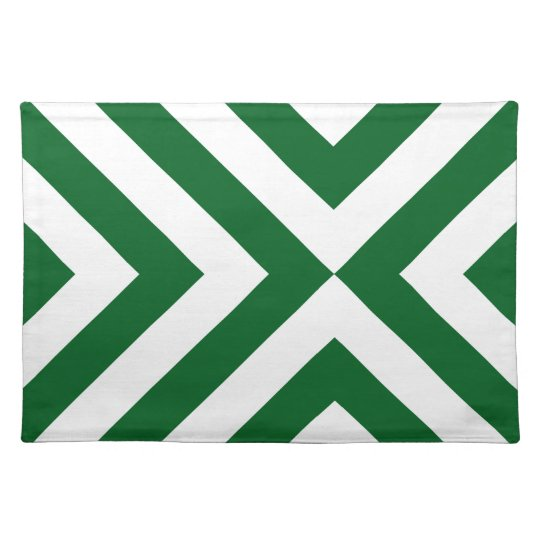 Green and White Chevrons Placemat