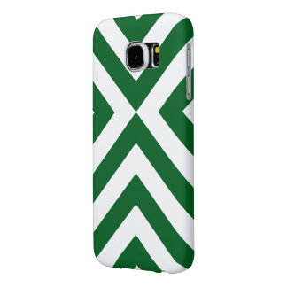 Green and White Chevrons Samsung Galaxy S6 Case