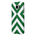 Green and White Chevrons Samsung Galaxy S6 Cases