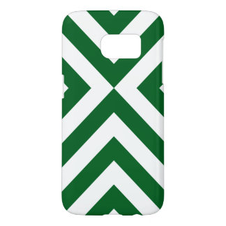 Green and White Chevrons Samsung Galaxy S7 Case