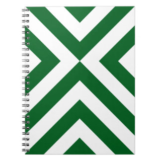 Green and White Chevrons Spiral Notebook