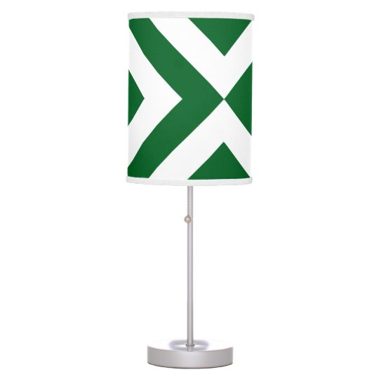 Green and White Chevrons Table Lamp