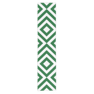 Green and White Chevrons Table Runner