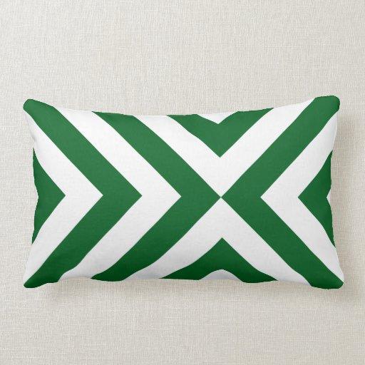 Green and white chevrons throw pillows zazzle for Green and white throw pillows