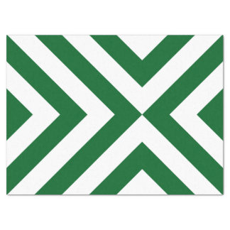 Green and White Chevrons Tissue Paper