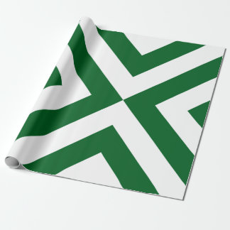 Green and White Chevrons Wrapping Paper