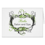 green and white Chic Business Thank You Cards