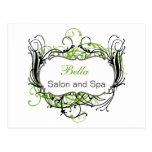 green and white Chic Business Thank You Cards Postcard