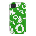Green and White Christmas Winter Holiday Gifts Vibe iPhone 4 Covers