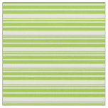 [ Thumbnail: Green and White Colored Lined Pattern Fabric ]
