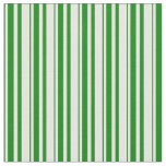 [ Thumbnail: Green and White Colored Pattern Fabric ]