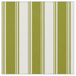 [ Thumbnail: Green and White Colored Striped Pattern Fabric ]