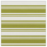 [ Thumbnail: Green and White Colored Stripes Fabric ]